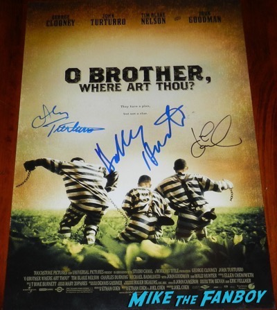 O Brother Where Art Thou signed autograph poster holly hunter john goodman psa