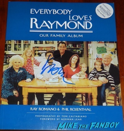 everybody loves raymond signed autograph signed book psa