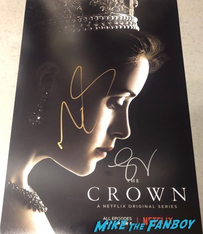 The Crown signed autograph poster claire foy matt smith psa