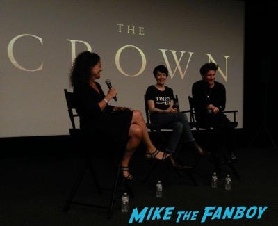 The Crown FYC q and A Claire Foy with fans matt smith 1