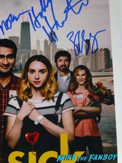 zoe kazan signed autograph The Big Sick poster