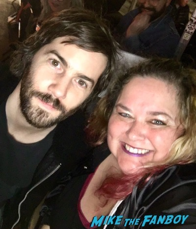 jim sturgess with fans signing autographs selfie