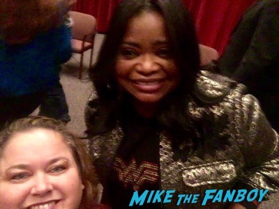 Octavia Spencer with fans now