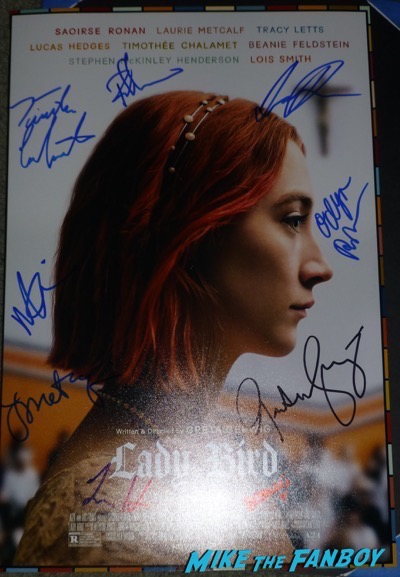 Lady bird signed autograph poster psa