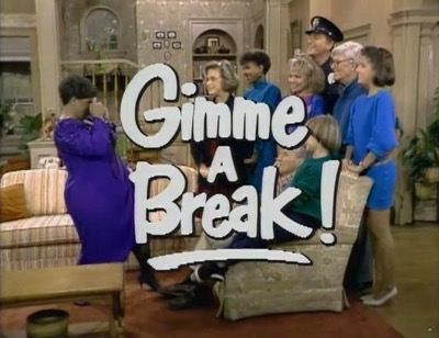 Gimmie a Break cast photo logo