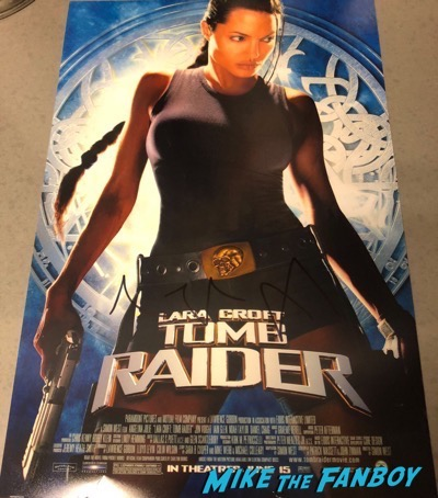 Angelina Jolie signed autograph tomb raider poster psa