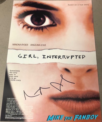 Angelina Jolie signed autograph Girl Interrupted poster psa