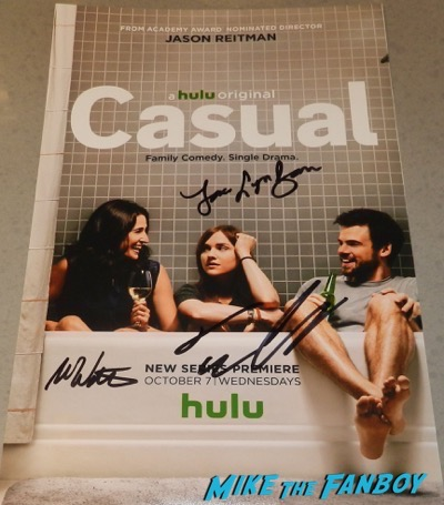 Casual signed autograph poster Michaela Watkins, Tommy Dewey and Tara Lynne Barr.