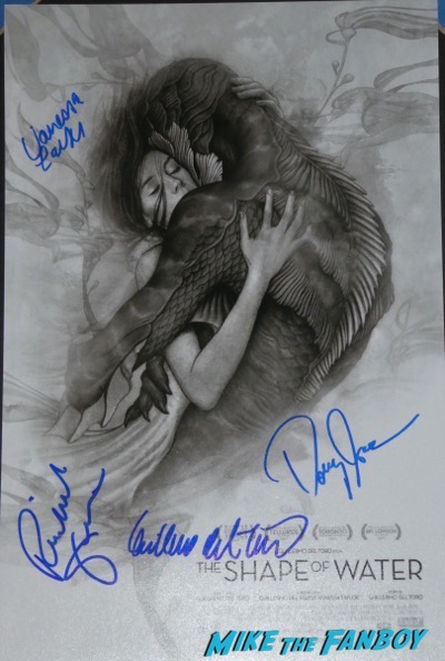 Guillermo del Toro signed autograph the shape of water poster