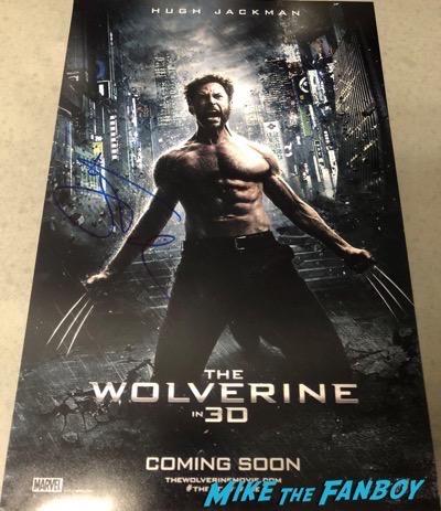 Hugh Jackman signed autograph Logan Wolverine poster psa rare