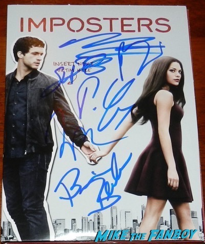 Imposters signed autograph poster Inbar Lavi, Rob Heaps, Parker Young, Marianne Rendon, Stephen Bishop, and Brian Benben meeting fans 36