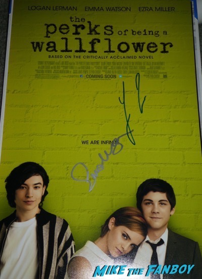 Logan Lerman signed autograph perks of being a wallflower poster