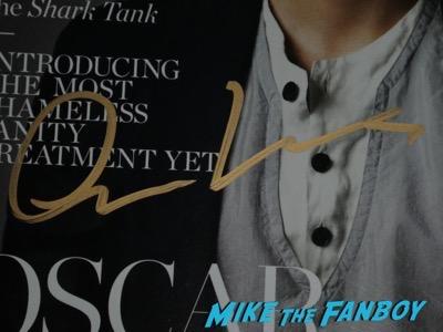 Oscar Isaac signed autograph details magazine psa