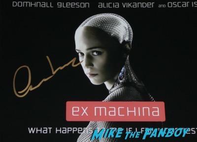 Oscar Isaac signed autograph Ex Machina poster rare psa