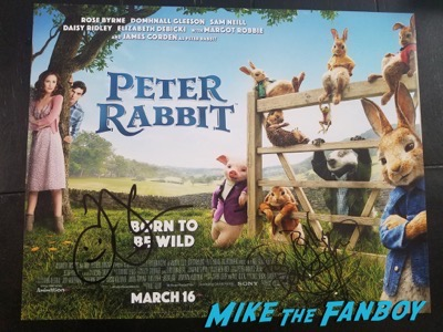 Peter Rabbit signed autograph poster james cordon Premiere signing autographs 10