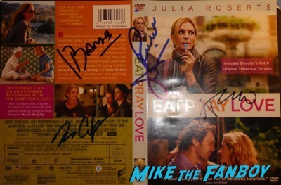 Richard Jenkins signed autograph eat pray love  poster