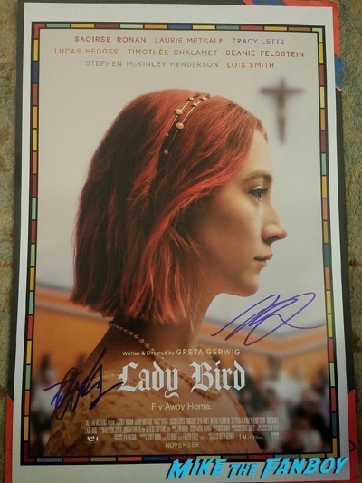 Saoirse Ronan signed autograph lady bird poster psa rare