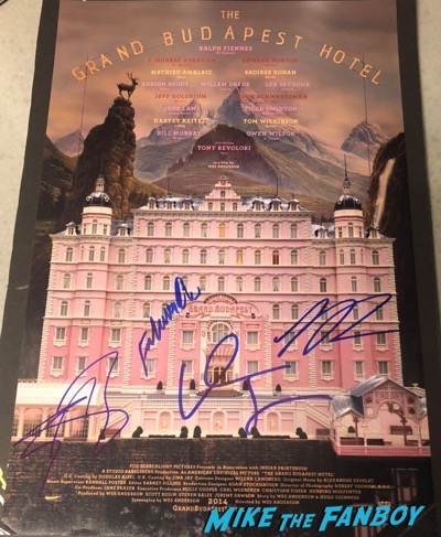 Saoirse Ronan signed autograph The Grand Budapest Hotel poster PSA 1