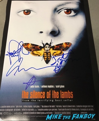 Jodie Foster Anthony Hopkins scott glenn Signed autograph silence of the lambs poster 1