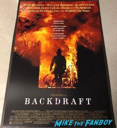 Scott Glenn Signed autograph backdraft poster 2
