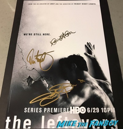 Justin Theroux Carrie Coon Signed autograph The Leftovers poster 3Justin Theroux Carrie Coon Signed autograph The Leftovers poster 3
