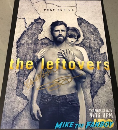 Justin Theroux Carrie Coon Signed autograph The Leftovers poster 3