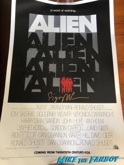 Sigourney Weaver signed autograph Alien poster