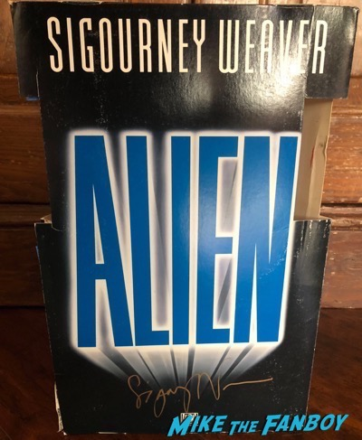 Sigourney Weaver signed autograph alien counter stand standee display