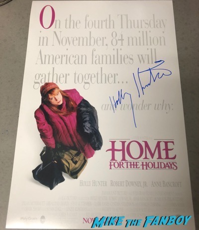 holly hunter signed autograph Home for the holidays poster psa