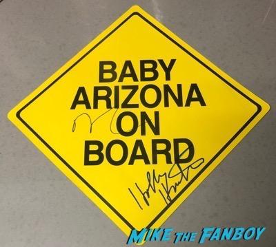 Holly Hunter Nicholas Cage signed autograph Raising Arizona promo video store stand psa