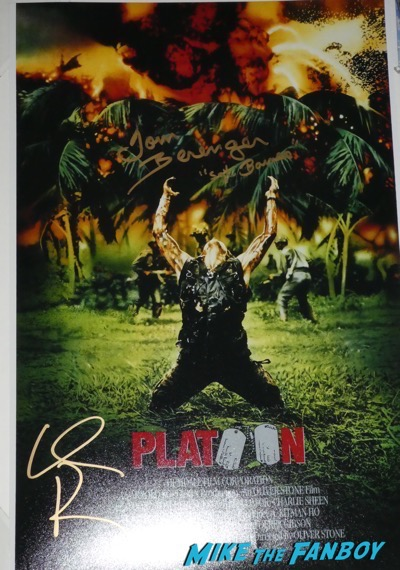Tom Berenger signed autograph platoon poster psa