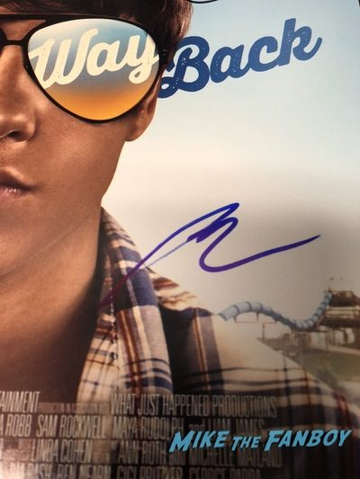 sam rockwell signed autograph the way way back poster