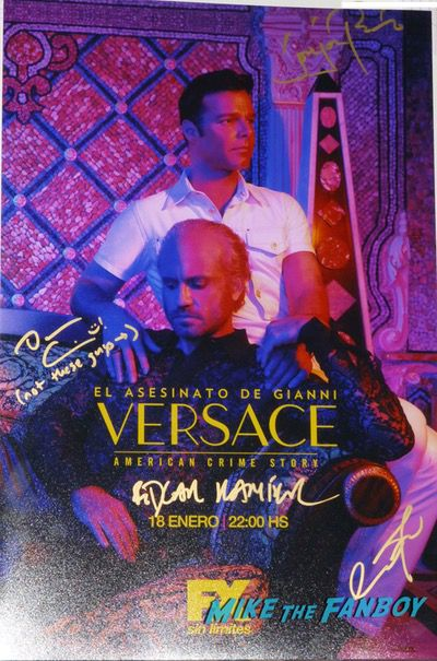 American Crime Versace Poster signed autograph