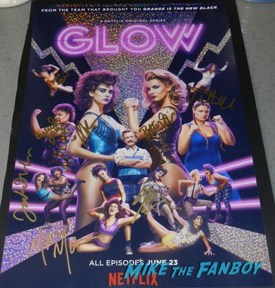 GLOW signed autograph season one poster alison brie signed autograph