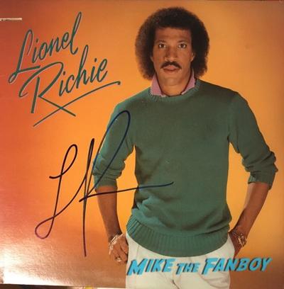 Lionel Richie signed autograph lp album