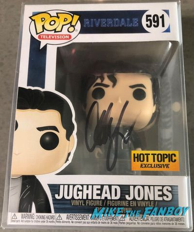 Cole Sprouse signed autograph funko pop vinyl Jughead riverdale