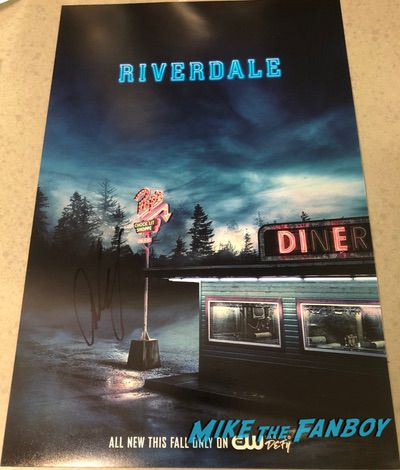 Cole Sprouse signed autograph riverdale poster v