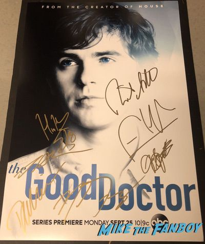 The Good Doctor signed autograph poster freddie highmore psa The Good Doctor signed autograph poster freddie highmore psa