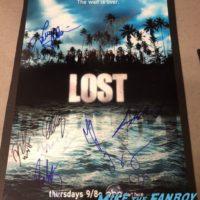 Lost Signed Autograph poster daniel Dae Kim psa