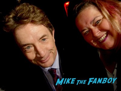 martin short with fans signing autographs rare