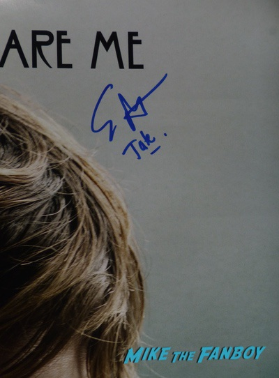 evan peters signed autograph poster