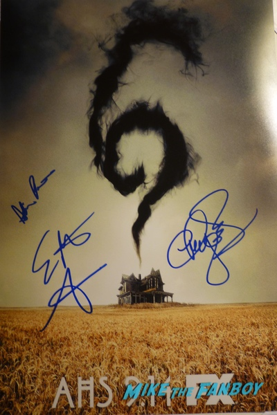 American Horror Story roanoake poster signed  autograph