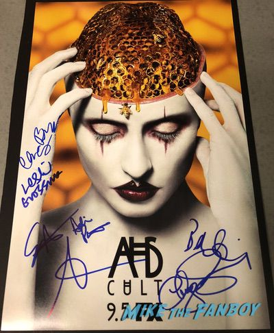 American Horror Story Cult signed autograph poster psa sarah paulson evan peters