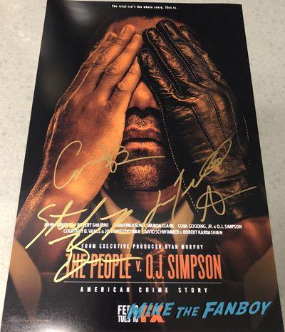 American Crime Story Sarah Paulson signed autograph poster john travolta psa