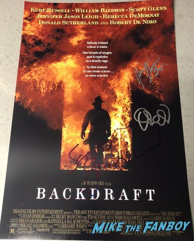 Jennifer Jason Leigh signed autograph Backdraft poster psa