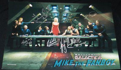 Tricia Helfer signed Battlestar Galactica poster