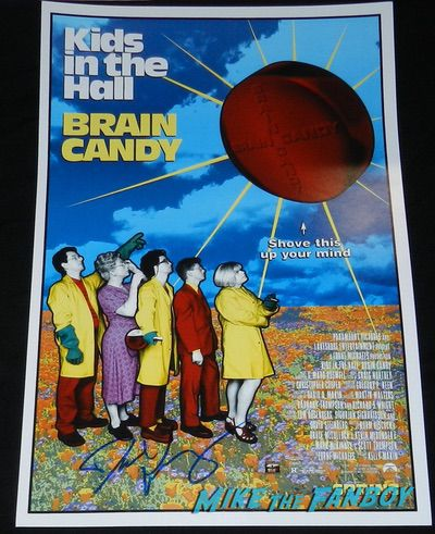 Davd Foley signed autograph Kids in the hall brain candy poster