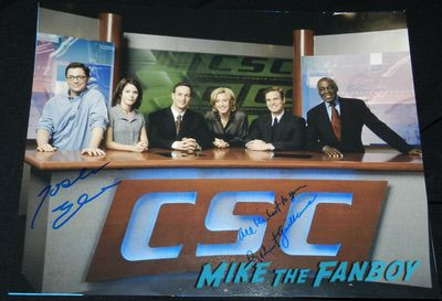 Joshua Malina signed Sports Night poster