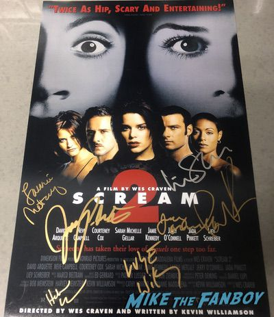 Heather Graham Signed autograph Scream 2 poster