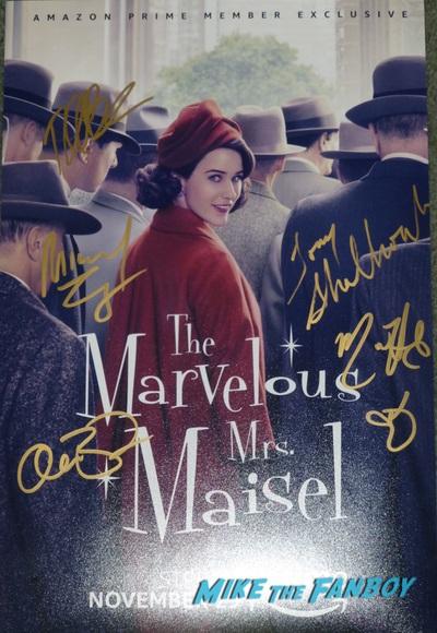 Mrs Maisel signed autograph poster re=se psa